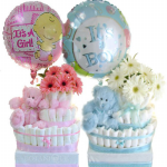 GF02 - Baby Boy and Girl Nappy Cakes - $110.00 each