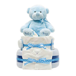 GF03 - Baby Boy Cake with Gifts - $70.00 to $110.00