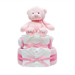GF04 - Baby Girl Cake with Gifts - $70.00 to $110.00