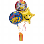 GF11 - 3 Helium Balloons and Favourites Chocolate - $58.00