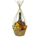 GF16 - Fruit and Wine Basket - $90.00 to 140.00