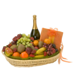 GF22 - Fruit, Chocolate and Wine Basket - $100.00 to $150.00