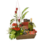 GF24 - Flowers Wine and Goddies - $180.00